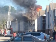 Fire at Brookstone Apartment Complex off Cliffdale Road