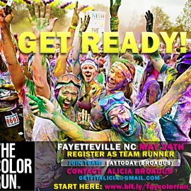 Fayetteville NC Color Run May 24 2014