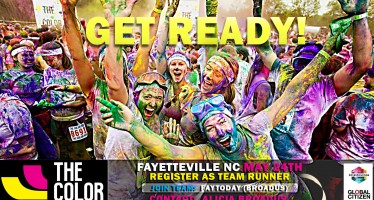 Get Ready for the Fayetteville NC Color Run 5K on May 24 2014