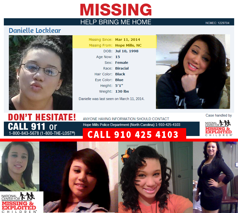 MISSING:  Danielle Locklear