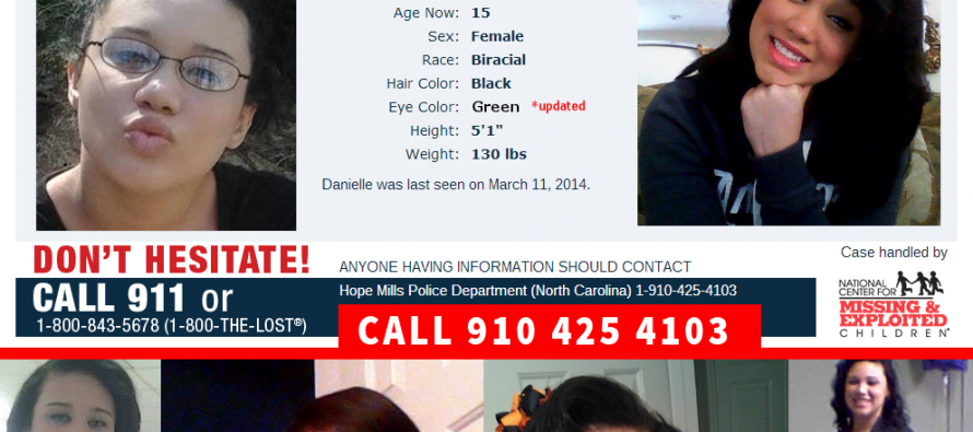 MISSING:  Danielle Locklear, 15, Hope Mills, NC