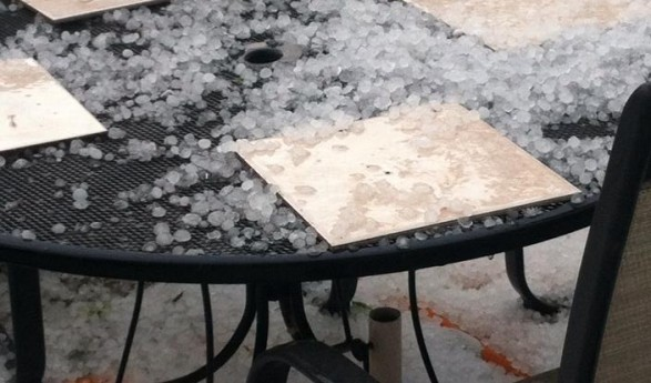 Hail Storm Hits North Cumberland County NC