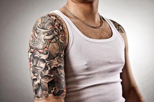 Military Half Sleeve Tattoo
