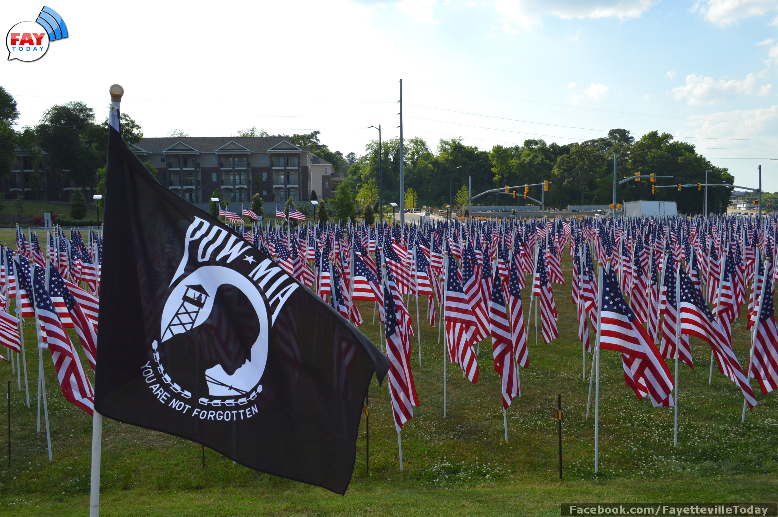 2014 Field of Honor in Downtown Fayetteville, NC