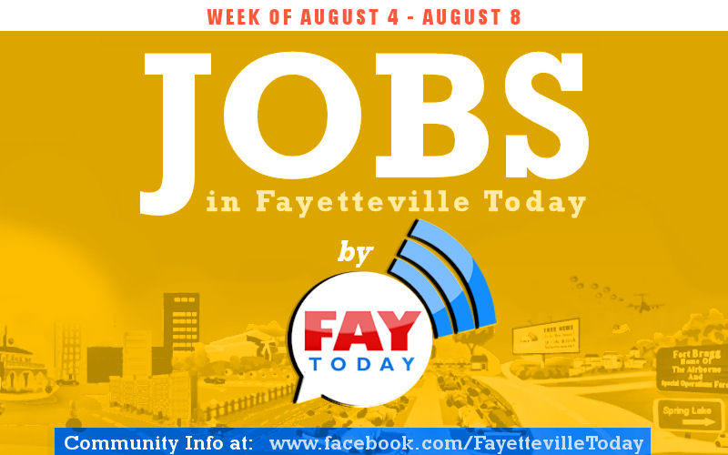 JOBS in Fayetteville NC Aug 2014