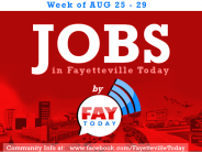 List of Job Openings Around Fayetteville, NC from August 25-29th