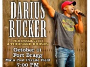 Free Darius Rucker Concert at Fort Bragg, NC on Oct. 11th
