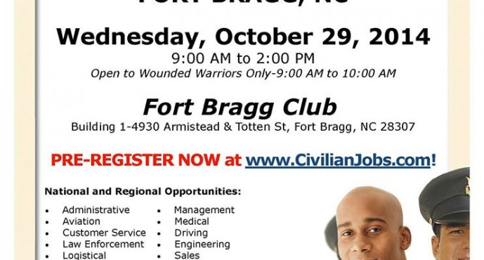 Military Job Fair on October 29, 2014 at Fort Bragg Club