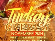 Free Turkey Giveaway at Murchison Rd and Jasper St on Nov 25th