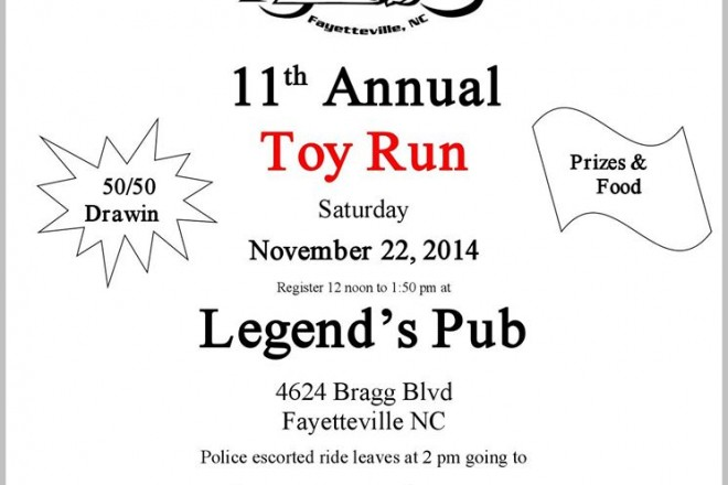 11th Annual STEELE ANGELS Toy Run on Nov 22nd 2014
