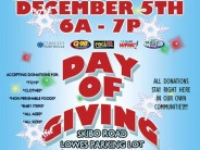 """Join the 2014 """"Day of Giving"""" at Lowes on Skibo Rd Dec 5th"""