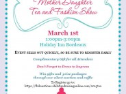 Mother Daughter Tea & Fashion Show on March 1st