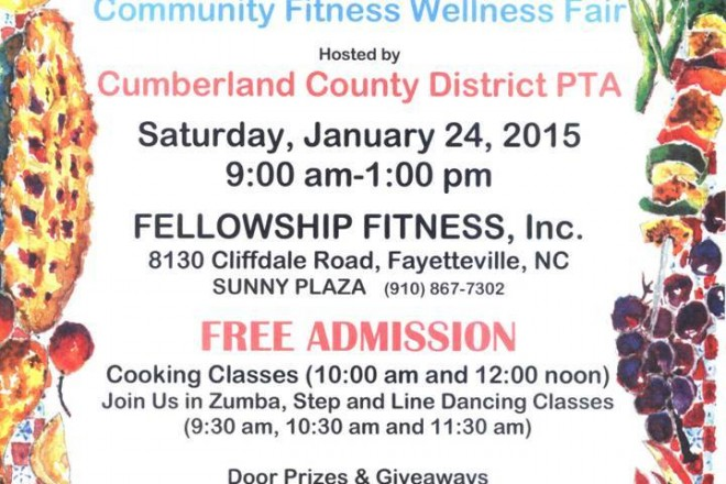 Free Community Fitness & Wellness Fair on Jan 24th 2015