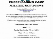FREE Cheerleading Camp Clinic for Ages 5-14