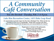 Community Conversations at Lake Rim Rec on Feb 3 (Must Register)