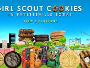 find girl scout cookies near fayetteville nc on feb 8th