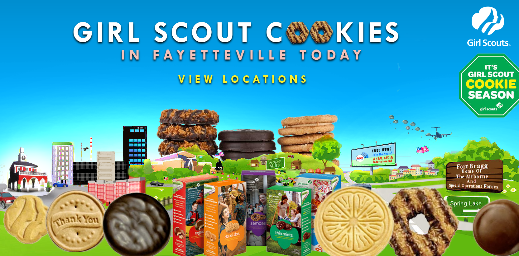 find girl scout cookies near fayetteville nc on feb 1st