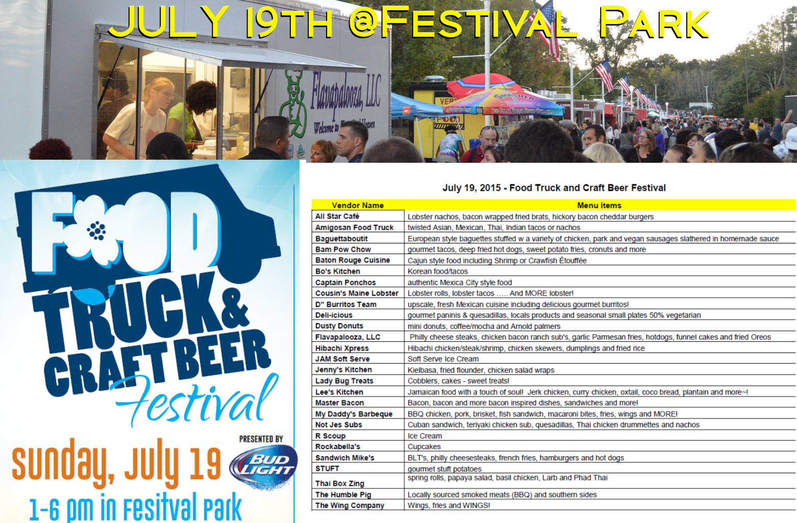 Fayetteville food truck craft beer festival on july 19th for Food truck and craft beer festival